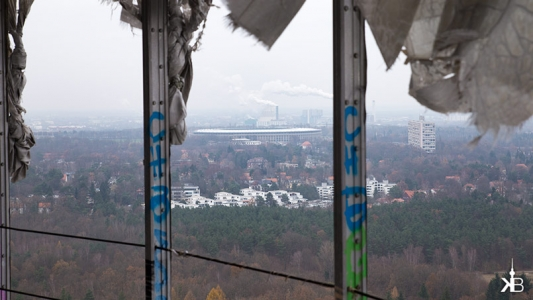 Berlin Teufelsberg Field Station | View to Olympia-Stadion