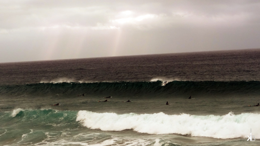 waiting for the perfect wave, perfect conditions for surfing at El Cotillo, Fuerteventura   kleppiberlin.de