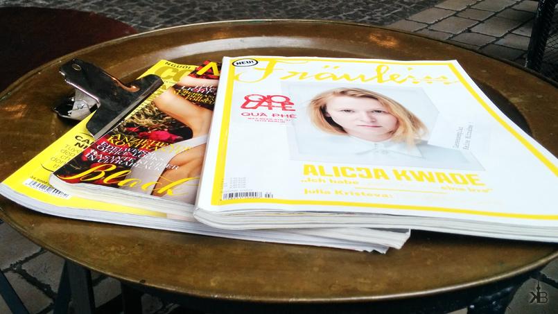 "QUÀ PHÊ; the neighbour table introduced me to a really good magazine: ""Fräulein"""