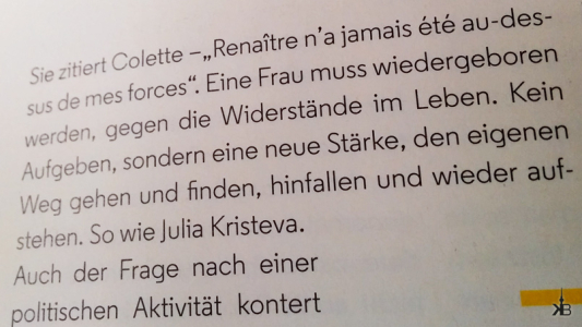 "first time reading the ""Fräulein"" magazine"